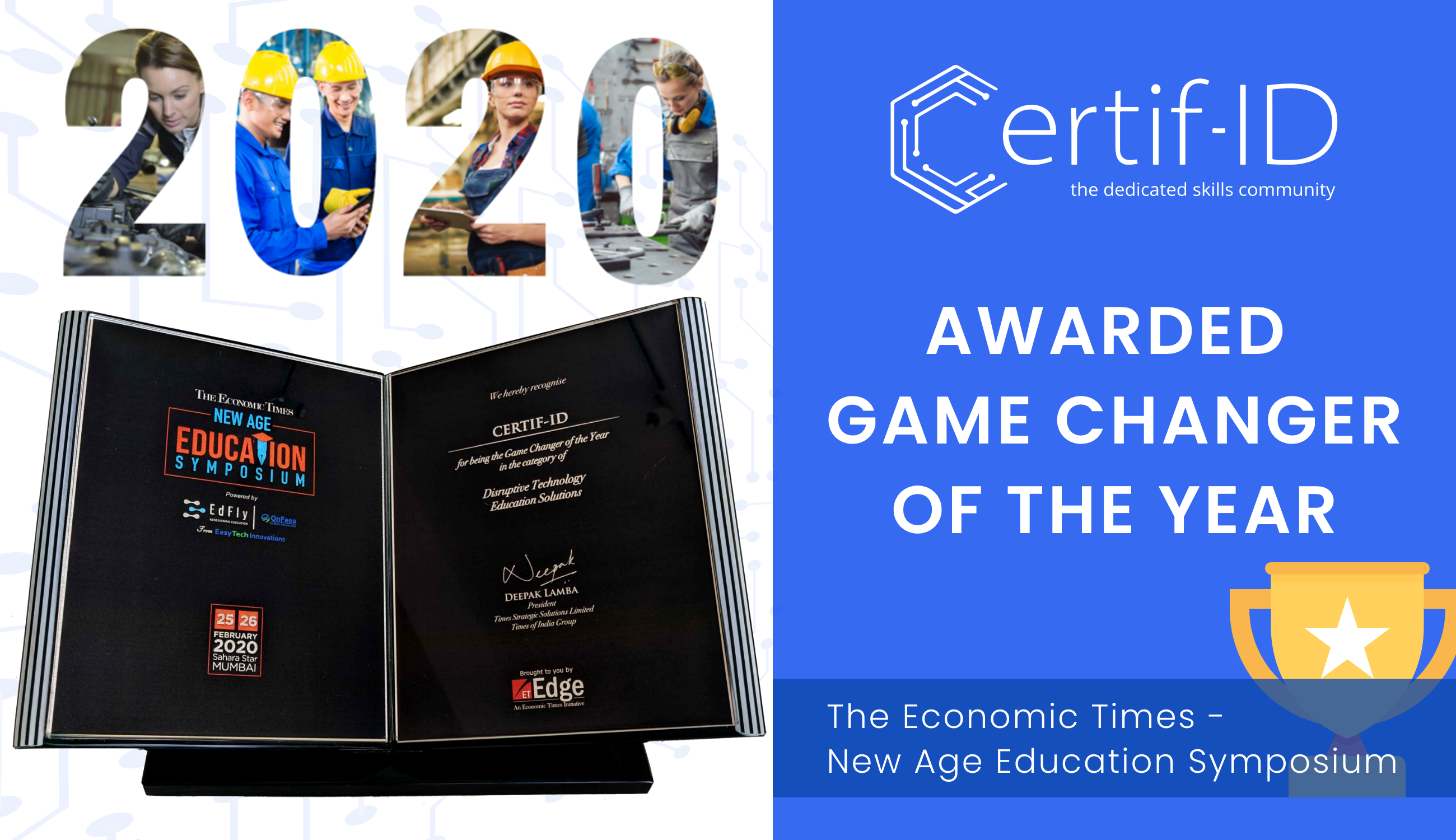 Certif-ID Recognized as the Game Changer of the Year