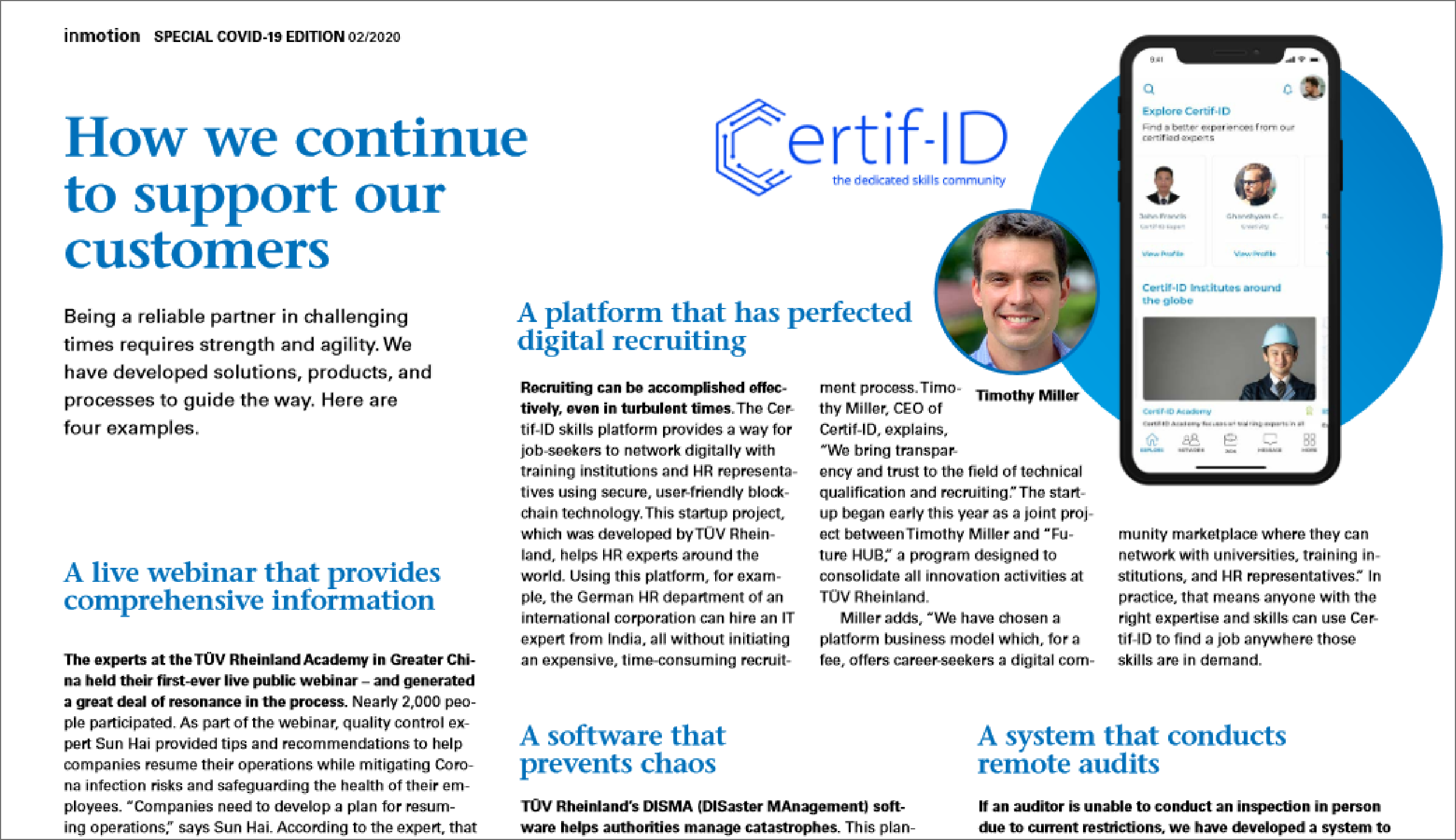 TÜV Rheinland Academy: Certif-ID Perfects Digital Recruiting