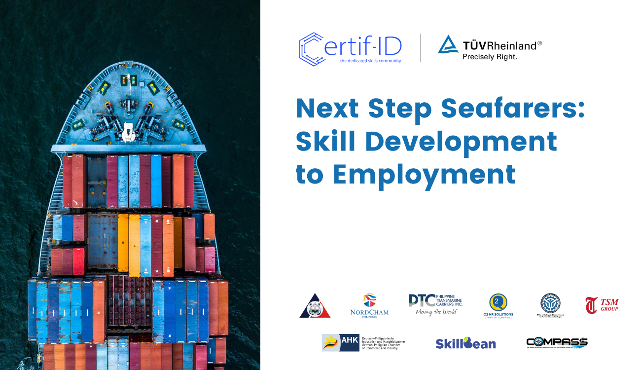 Filipino seafarers return to work, TÜV Rheinland and Certif-ID launch initiative Next Step Seafarers: Skills Development to Employment.